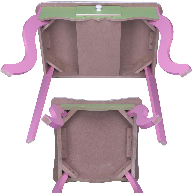 SCHMINKTISCH #426 Kinderschminktisch Kindertisch Frisierkommode Prinzessin  Spiegel Frisiertisch Hocker Habeig®: Amazon.de: Küche U0026 Haushalt