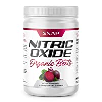 Beet Root Powder - Nitric Oxide Beets by Snap Supplements - Blood Flow and Circulation Superfood, Muscle & Heart Health - BCAAs. L Arginine, L Citrulline (12 oz.)