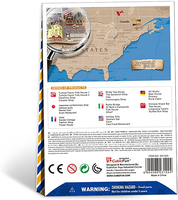 Western Bar CubicFun 3D Puzzle World Style-Series American Flavor