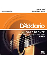Amazon Com Acoustic Guitar Strings