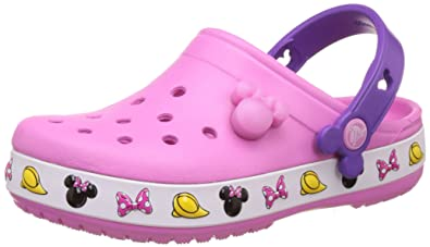 9560a0f55a455 crocs Girl s Crocband Minnie Party Pink Clogs and Mules - J1  Buy ...