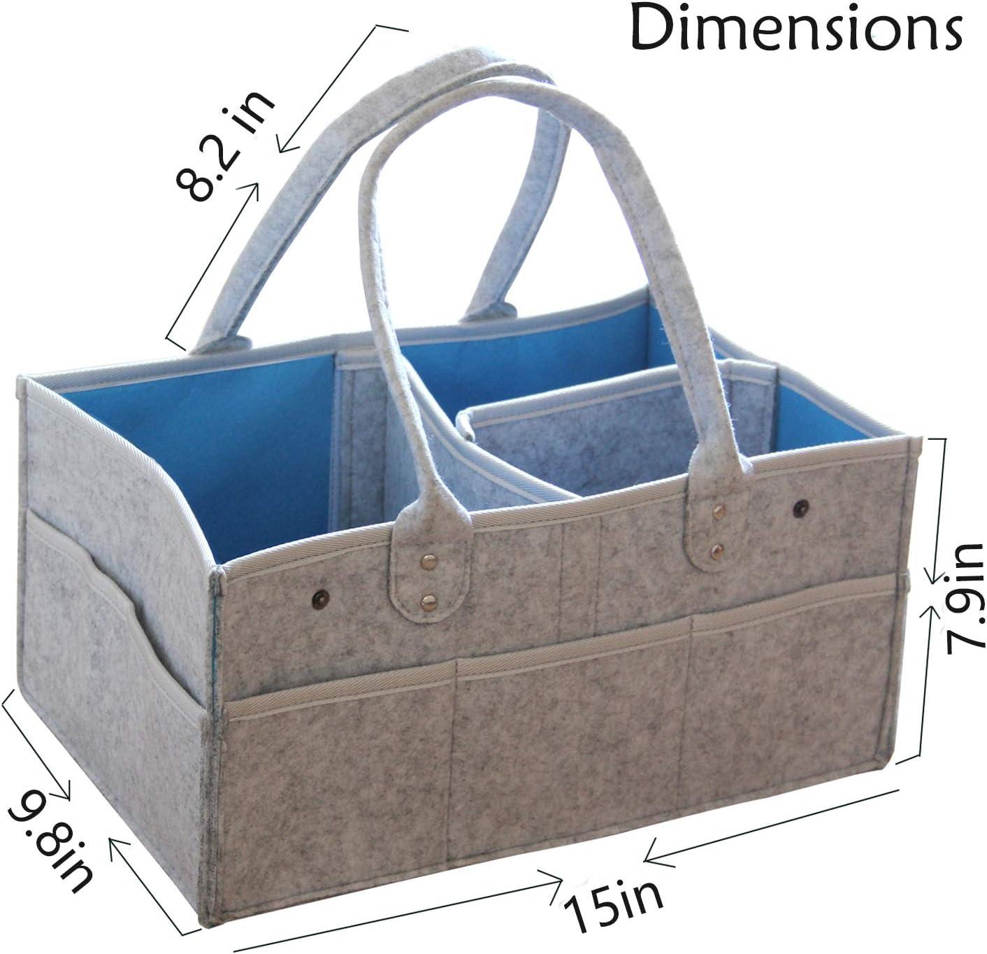 with Dust Cover,Infant Portable Organizer AEESRRU Organizer Nursery Storage Bin Car Organizer for Diapers and Baby Wipes UpgradeBoy Girl Diaper Storage Bin for Baby Diaper Caddy