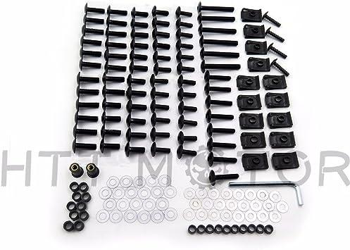 Color : Black XIAOZHIWEN CNC Bulloni carenatura completa Viti per carrozzeria Kit dadi per Honda CBR 954 RR 2002-2003 durable