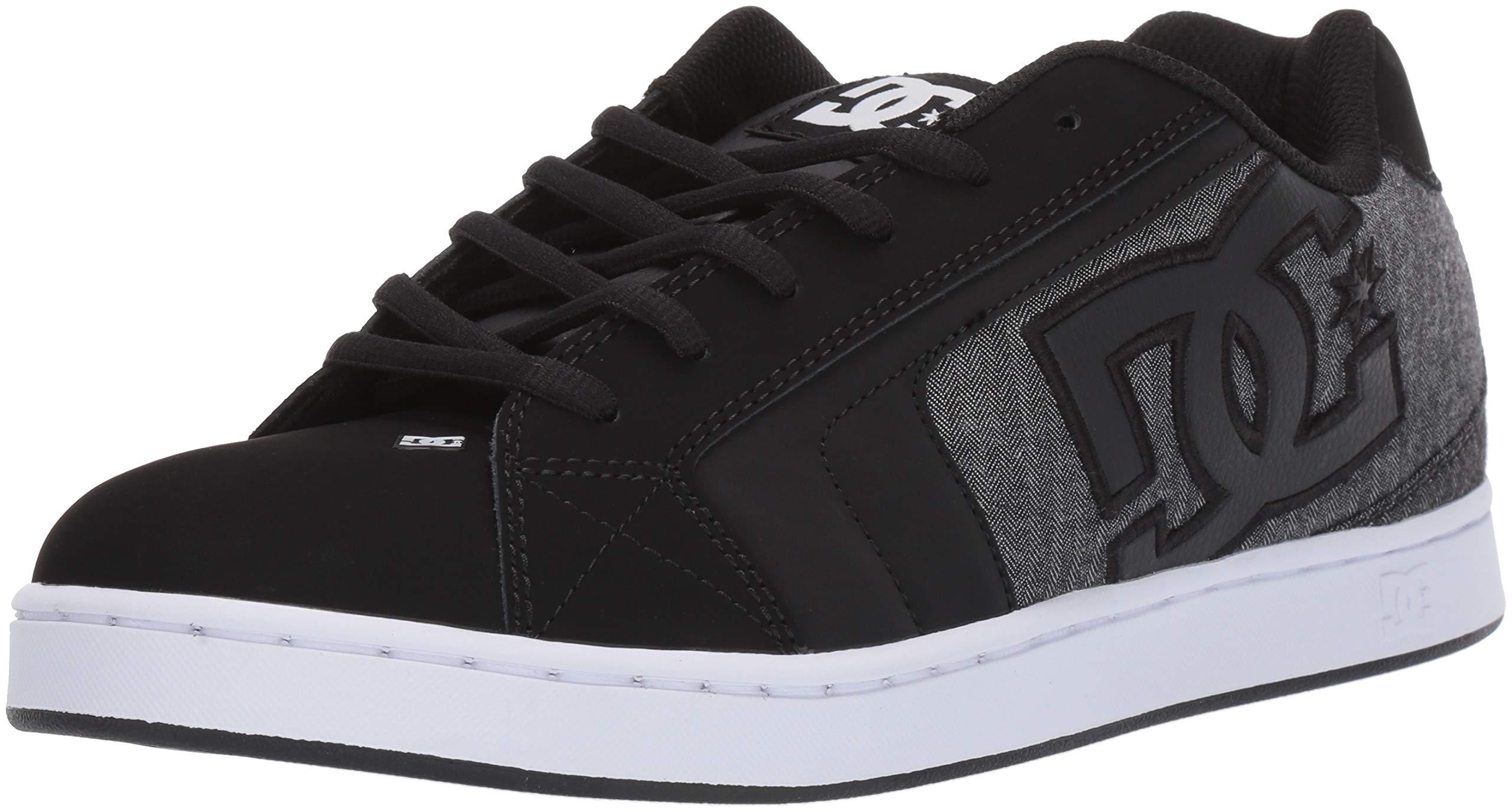DC Men's Net Se-K Skate Shoe, Black Resin, 10.5 M US