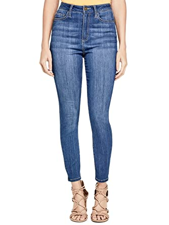 GUESS Factory Women s Simmone Super High-Waist Skinny Jeans at Amazon  Women s Jeans store 5f93d015e