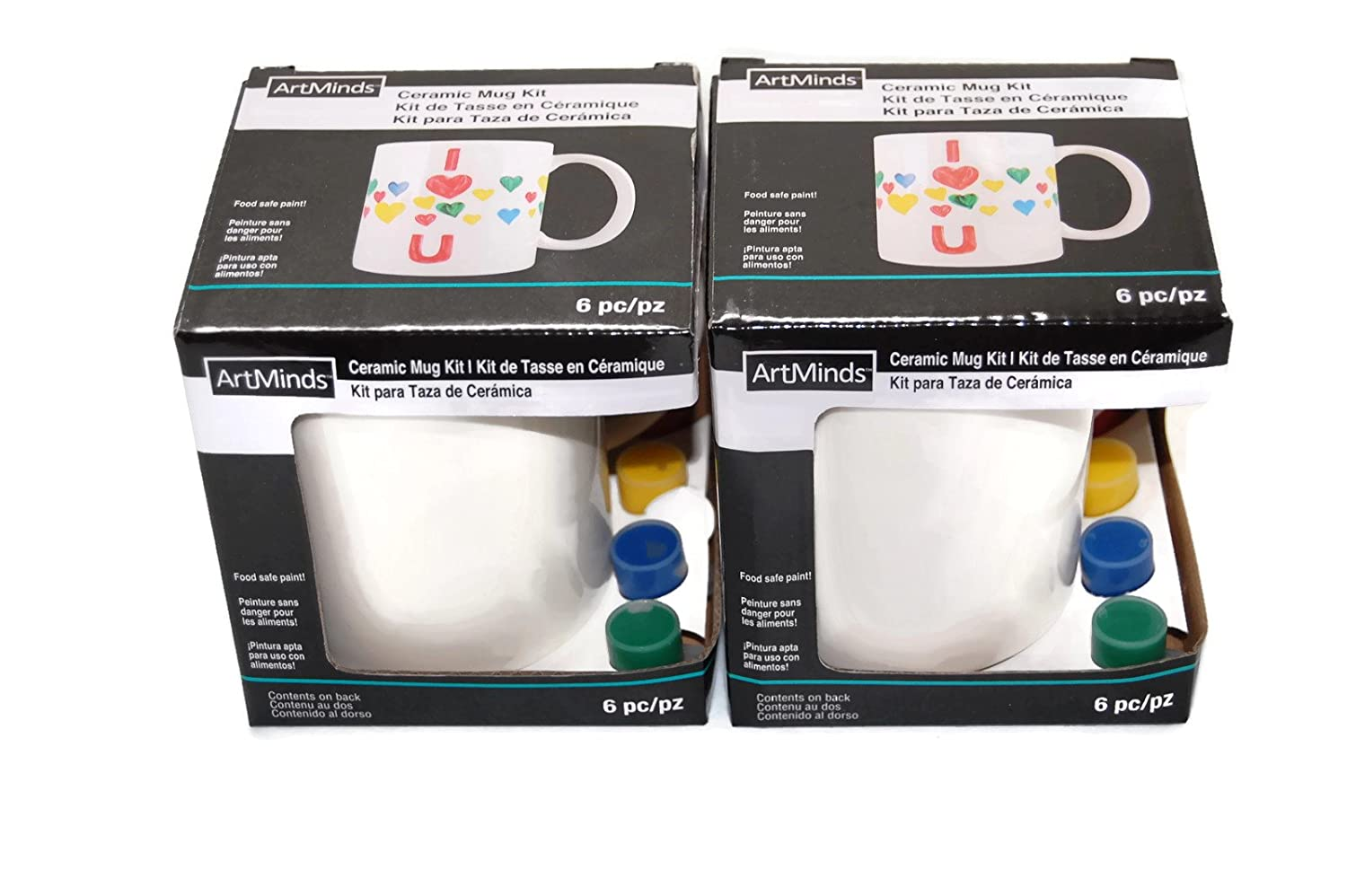 Amazoncom Artminds Ceramic Mug Painting Kit 2 Pack Arts Crafts