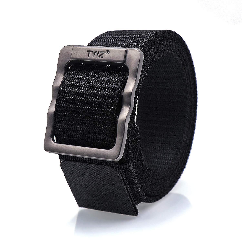 TWZ Cintura Tattica, Cinturino in Robusta Cintura di Nylon Stile Militare con Fibbia Regolabile in Metallo Amovibile