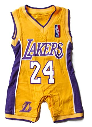 21ccd479ca75 Amazon.com  Lakers Baby Jersey  Clothing