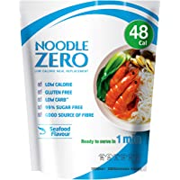 NoodleZero Konjac/Shirataki Low Calorie Meal - Seafood Flavour, 390g Low Carb, Gluten Free, Keto Friendly, Easy to Prepare, Healthy Diet Pasta