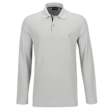 GOLFINO The Panama Polo Manga Larga Hombre Plata Gris, 50: Amazon ...