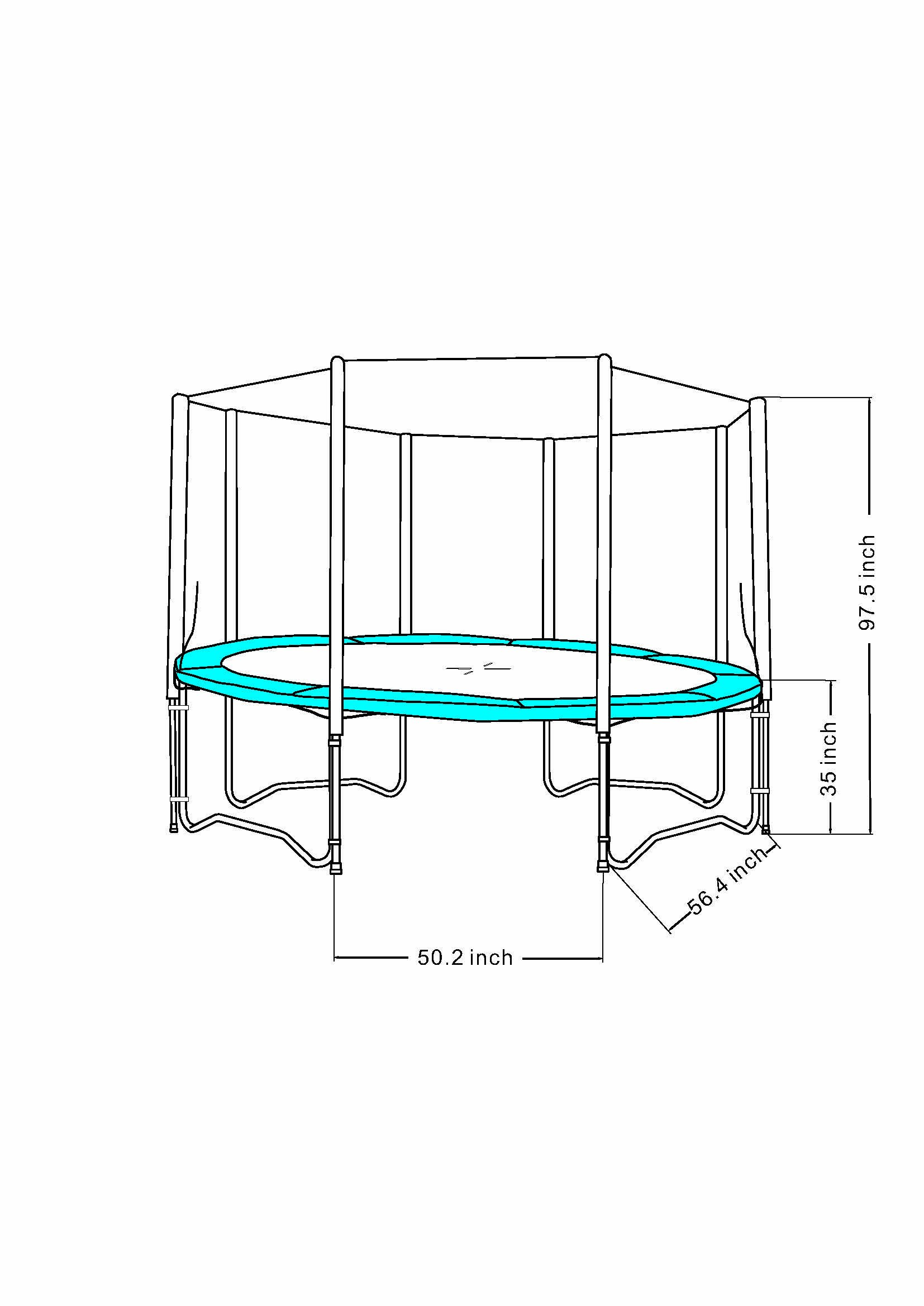Super Jumper Enclosure for Trampoline, Black, 12-Feet by Super Jumper
