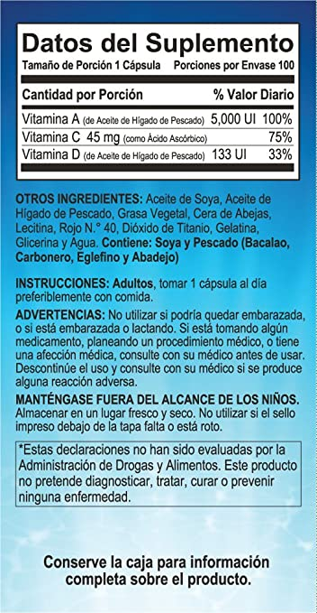 Amazon.com: Vita Kahuama with Fish Oil 100 Sofgels Dietary Supplement: Health & Personal Care