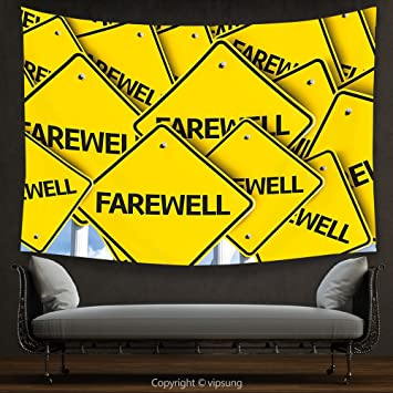 Amazon.com: House Decor Tapestry Going Away Party Decorations by ...