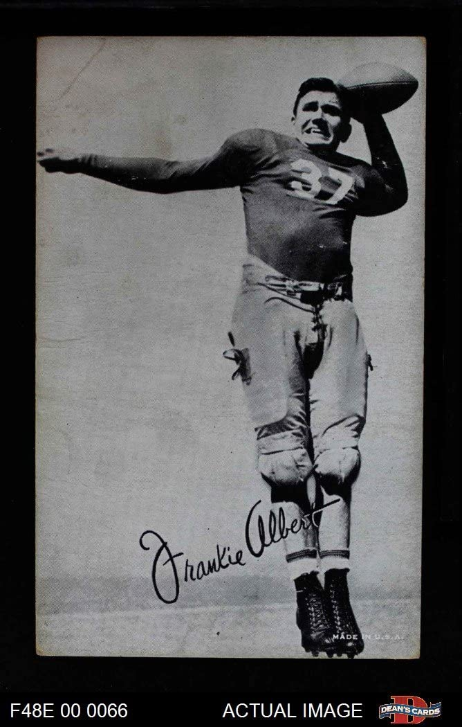 1948 Exhibits Black and White Frankie Albert San Francisco 49ers (Football Card) Dean's Cards 2 - GOOD 49ers 71GFuvuWVUL