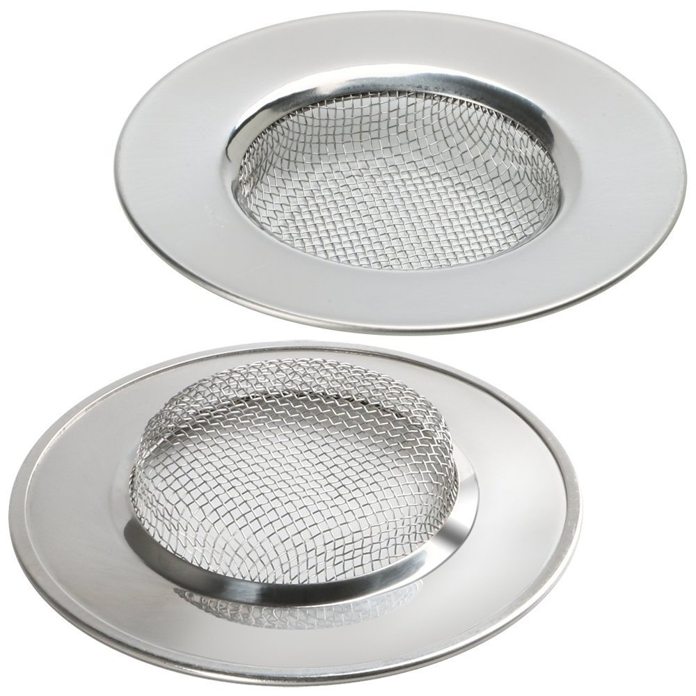 Homgaty 2Pcs Stainless Steel Bath Sink Strainer Shower Basin Cover Trap Drain Protector