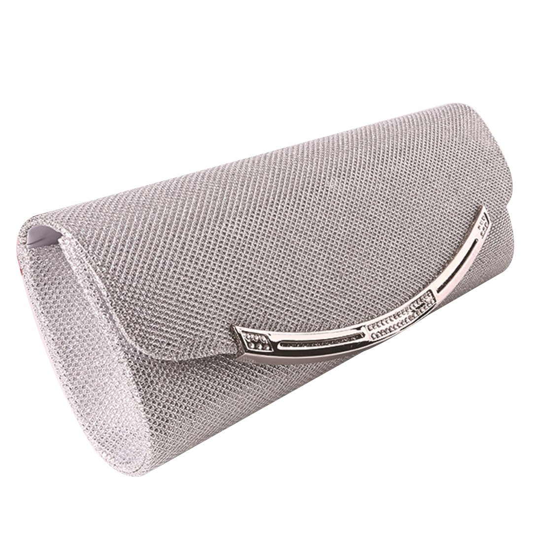 22aa281120a19 Elegant Womens Envelope Clutch Bag Ladies Shoulder Evening Prom Handbag  Party Bag for Wedding Daily Use (Silver)  Amazon.co.uk  Clothing