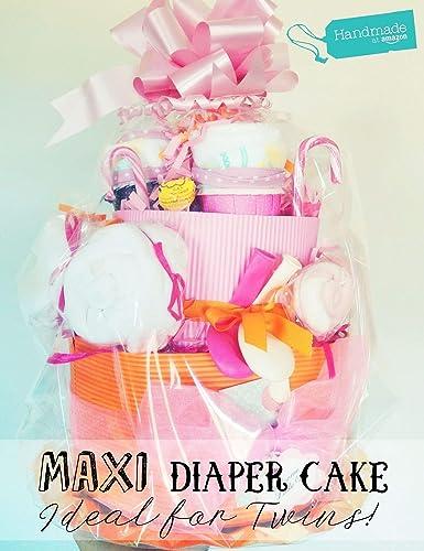 Tarta de Pañales MAXI (para Gemelos o para un Maxi Regalo a ...