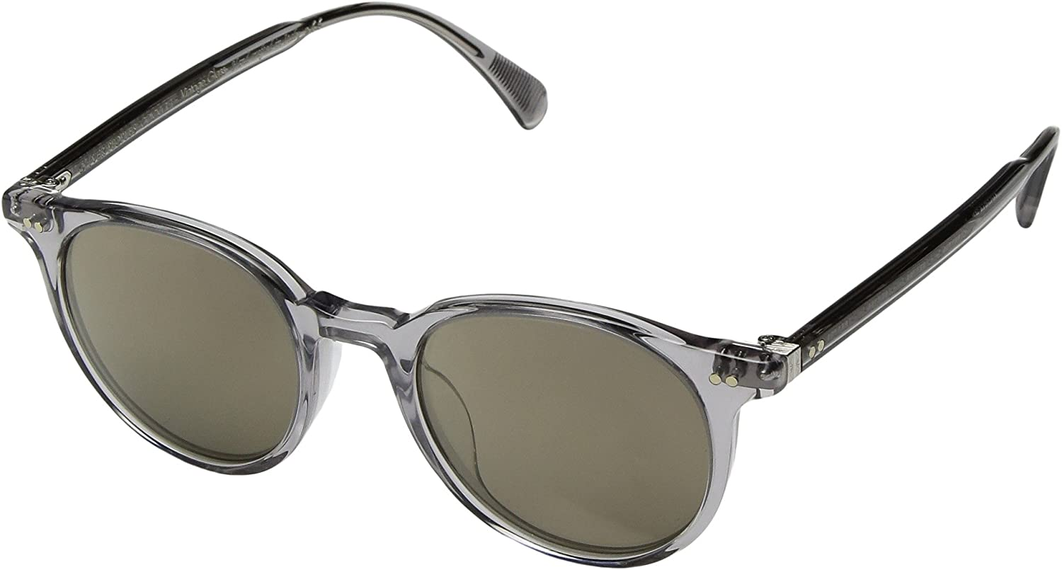 db1418be7a5 Amazon.com  Oliver Peoples Unisex Delray Sun Buff Amber Gold Tone One Size   Clothing