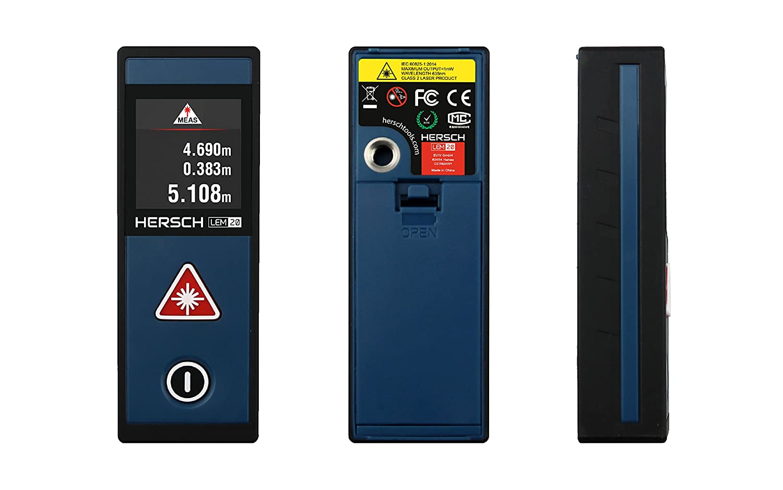 Digitaler Entfernungsmesser Reinigen : Hersch lem laser entfernungsmesser messbereich m