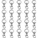 TRIXES 20 kleine abnehmbare Drehverschlüsse für Schlüsselringe - Karabinerhaken Schlüsselanhänger
