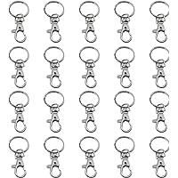 TRIXES 20 petits mousquetons détachables pivotants avec boucle et anneau de clé