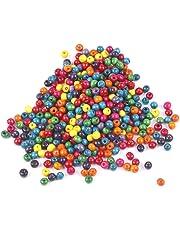 JBR 1500 Piezas Perlas de Madera, Bolas intermedias, Abalorios para Pulsera, Colgantes,