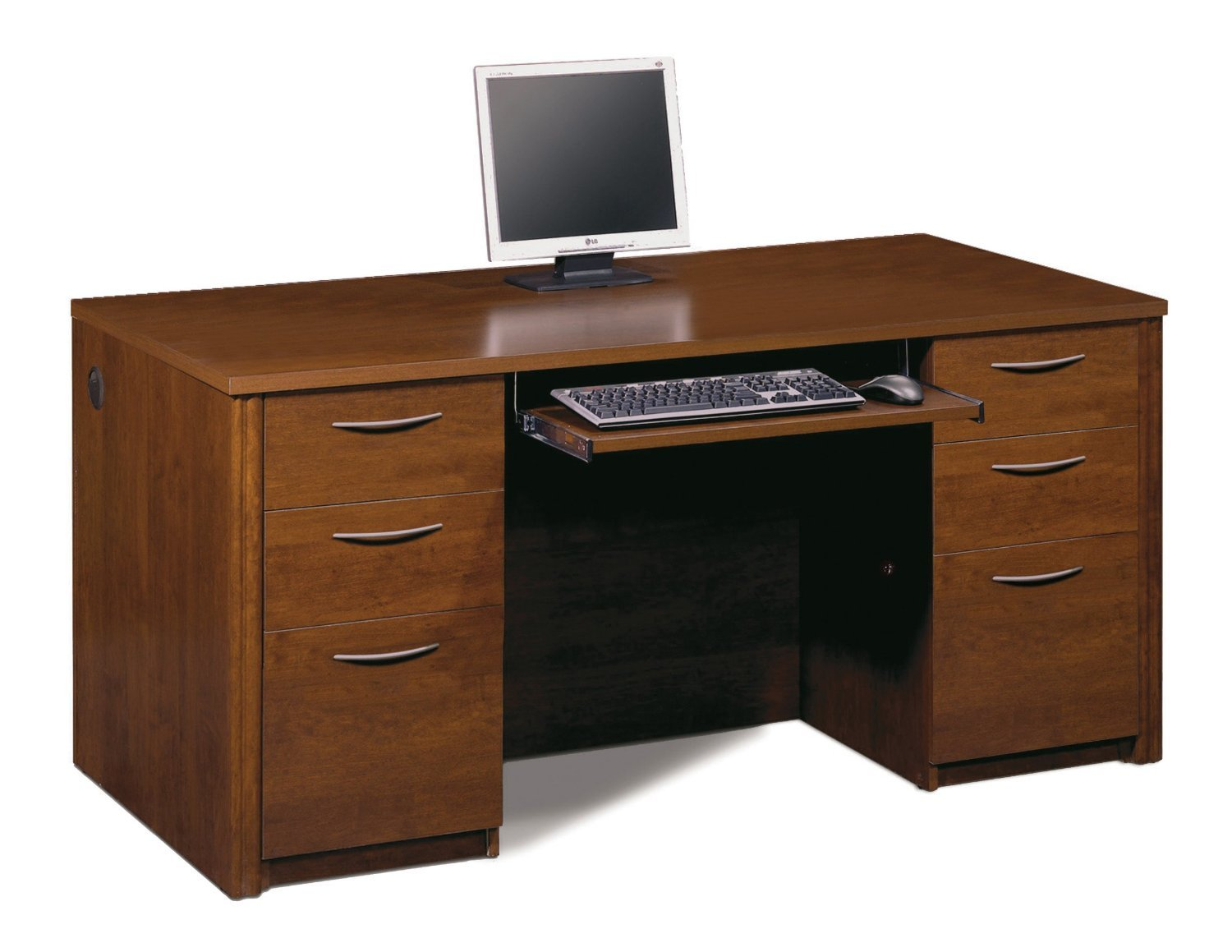 Amazon.com: Bestar Office Furniture Embassy Collection Tuscany Brown  Executive Desk: Kitchen U0026 Dining