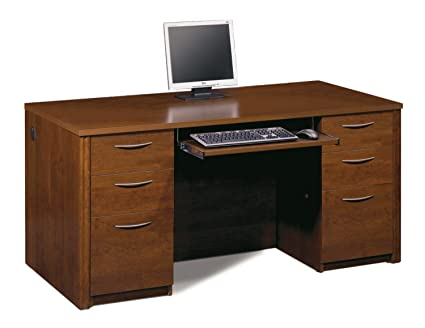 Bestar Office Furniture Embassy Collection Tuscany Brown Executive Desk
