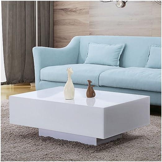 Amazon Com 33 Modern High Gloss White Coffee Table Side End