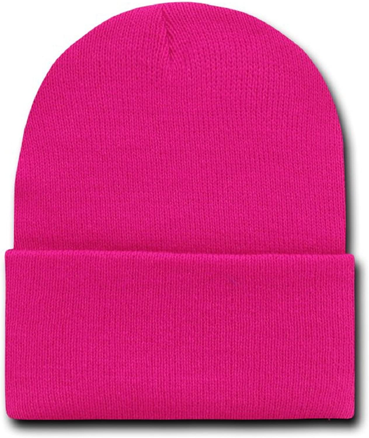 details for the best how to buy MAGENTA HOT PINK LONG BEANIE SKI CAP CAPS HAT HATS CUFFED at ...