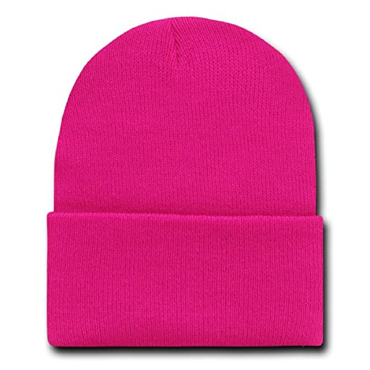 Image Unavailable. Image not available for. Color  MAGENTA HOT PINK LONG  BEANIE SKI CAP ... c9a4488e96e