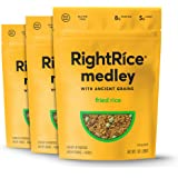RightRice Medley - Fried Rice (7oz. Pack of 3) - Made from Vegetables – Ancient Grains and More Veggies, Vegan, non GMO…