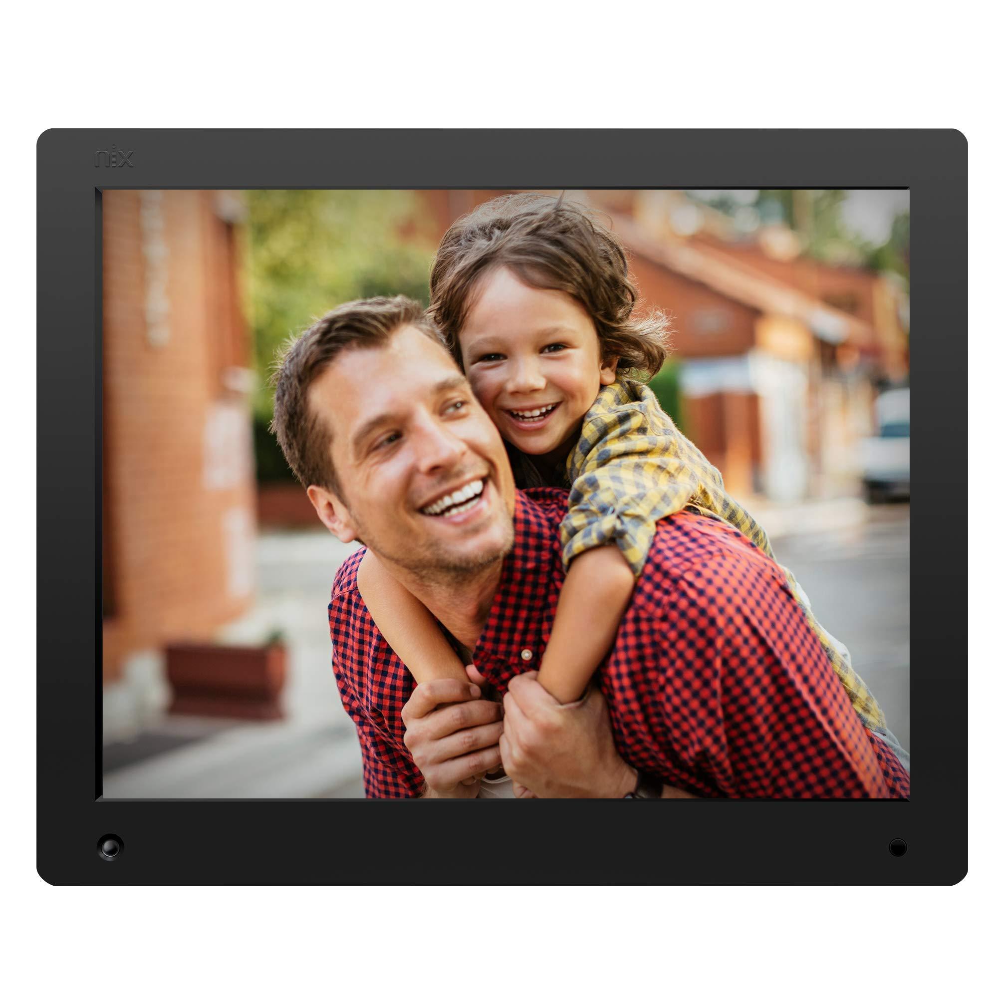 NIX Advance - Cadre numérique 15 Pouces écran Large pour Photos et vidéos HD (720p) avec capteur de Mouvement. Noir. X15D product image