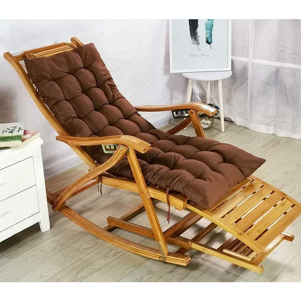 快適なリラックスロッキングチェア調節可能なリクライニングチェア大人用折りたたみ式ランチブレイクロッカー夏シエスタベッド付きアームレストとマッサージフットレスト (色 : Chair+mat g) B07QWH3JP6 Chair+mat d Chair+mat d