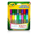 Crayola; Mini Washable Glitter Glue; Art Tools; 16 ct; 16 Sparkly Colors; Great for Arts and Crafts (3 Packs)
