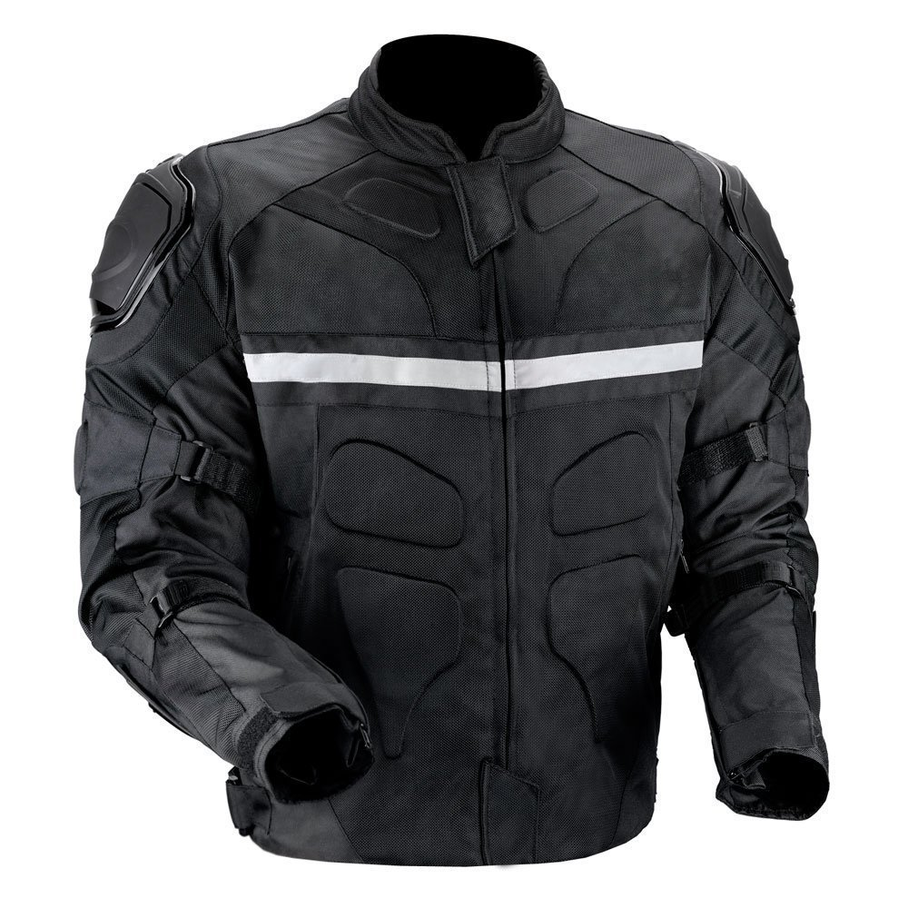 Viking Cycle Stealth Motorcycle Jacket for Men (Large)