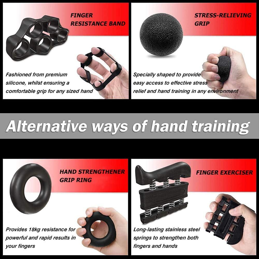 Kit di Allenamento per Impugnatura dellavambraccio per rinforzare Le Mani Kit Attrezzi per Allenamento di Mani Aiooy Pinza Mano Regolabile Ginnico per Dito