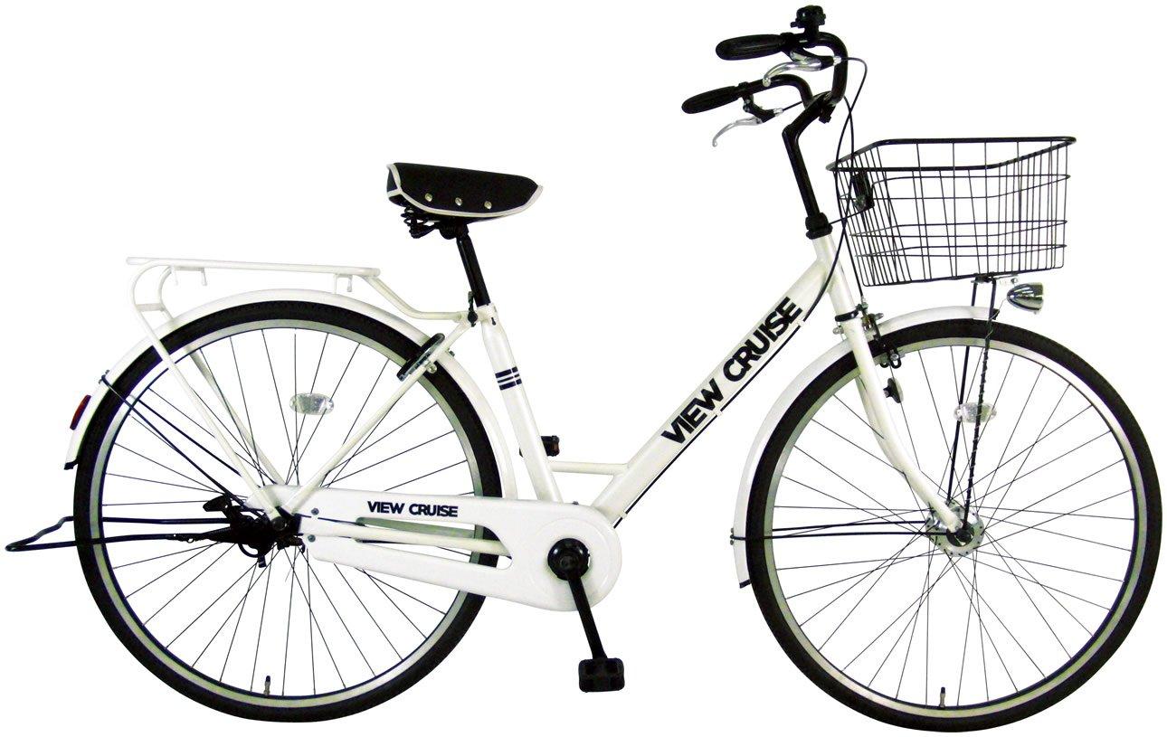C.Dream(シードリーム) ビュークルーズ オートライト VC71-H 27インチ 自転車 シティサイクル ホワイト 100%組立済み発送 B071J6QJN7