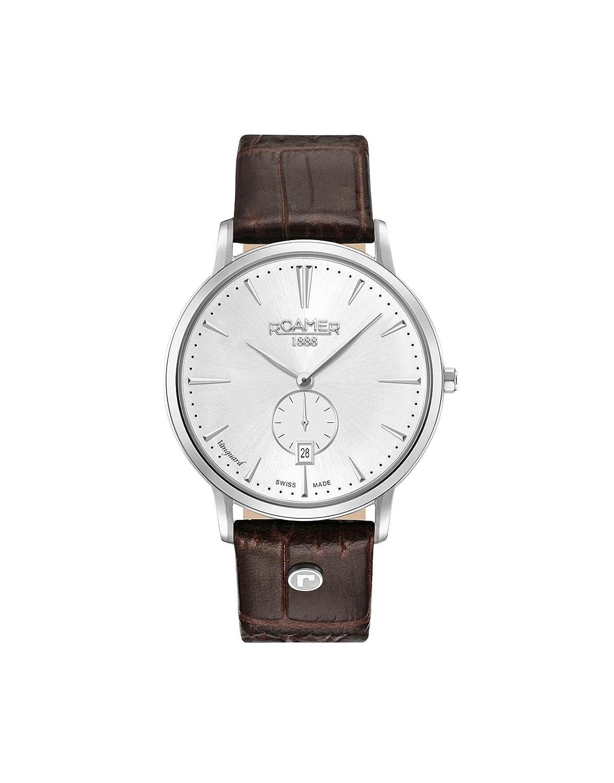 Datum Herren Mit Roamer Klassisch 41 Armband Quarz Leder 980812 Uhr tQdChsr