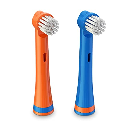 Brusheez Electronic Toothbrush Replacement Brush Heads 2 Pack (Buddy the Bear)