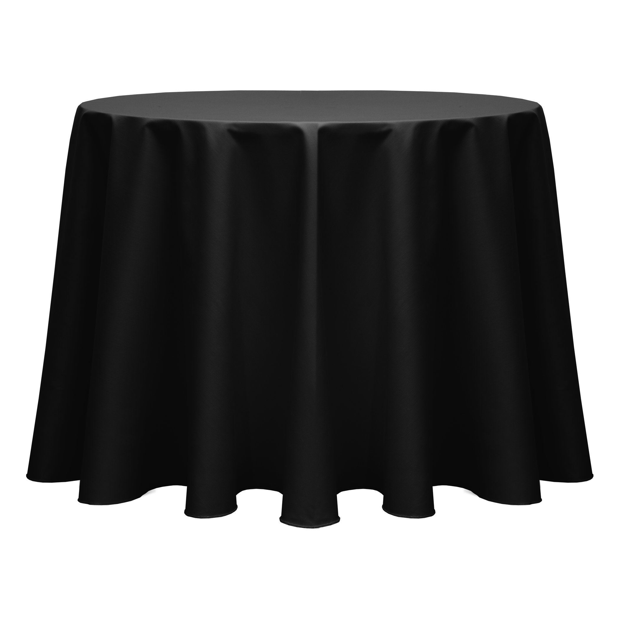 Ultimate Textile (10 Pack) Poly-cotton Twill 70-Inch Round Tablecloth - for Restaurant and Catering, Hotel or Home Dining use, Black