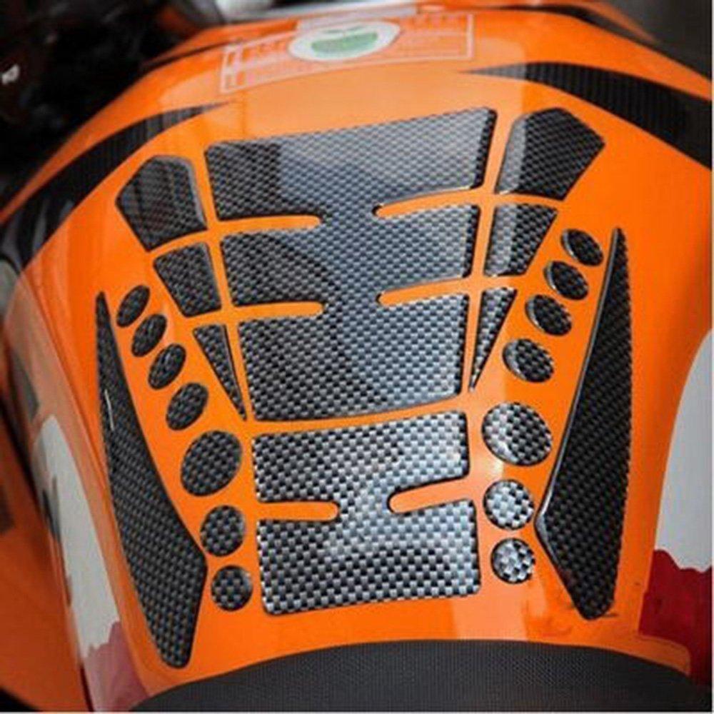 ViZe Autocollants Moto Tankpad D/écalcos Protection R/éservoir Stickers Fishbone Motif Noir