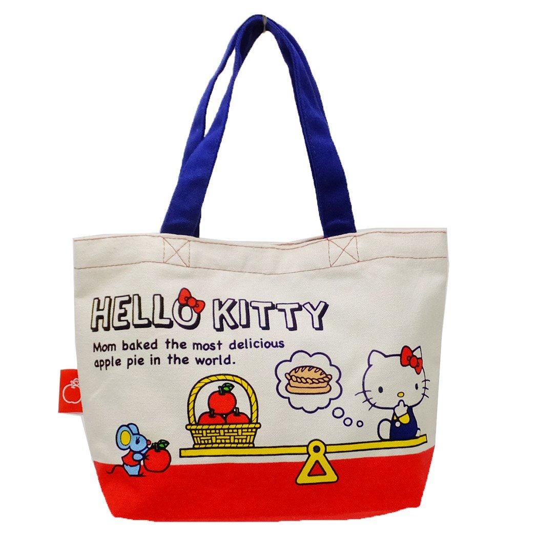10ca82ac75cb Amazon.com  SANRIO Hello Kitty Cotton Mini Tote Bag Lunch Bag  Toys   Games