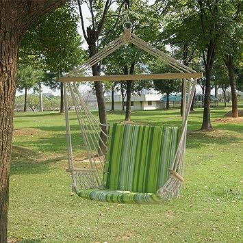 Juegos de gimnasia y columpios Columpio for la terraza Silla del patio de oscilación de interior o al aire libre que cuelga de la cuerda silla de la hamaca Para juegos al