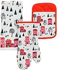 Kate Spade New York 3pc Linen Set (Holiday Village)