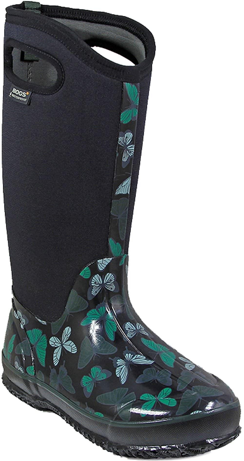 Bogs Women's Classic Butterflies Snow Boot, Black/Multi, 6 M US