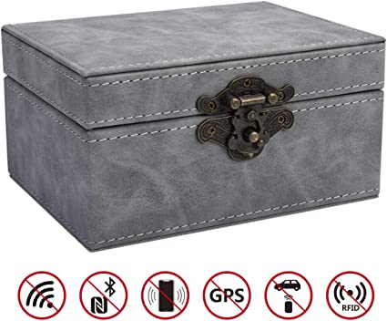 Amazon.es: CigaMaTe caja de bloqueo de señal de llave de coche, caja Faraday para llaves de coche, antirrobo, sin llave, caja de bloqueo de señal, funda de bloqueo de señal RFID antihacking
