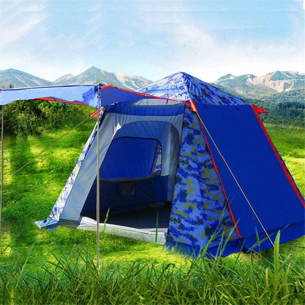 Spacious,Anti-UVZelt, Outdoor Family Tourism Beach Tents 4-6 Personen Windproof Sonnenschutz automatisches OverGrößed Zelt (240  240  185),1,240  240  185