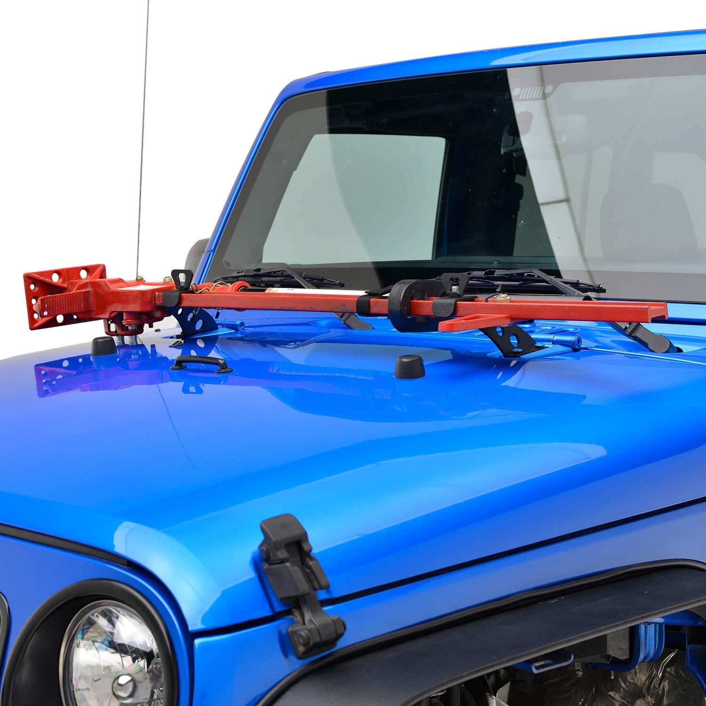 EAG 2007-2018 Jeep Wrangler JK Hi Lift Jack Mount Hood Hinge Bracket by EAG (Image #7)