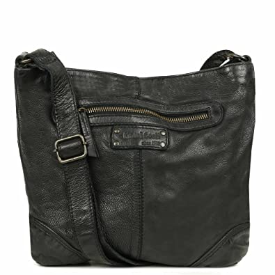 900db628ae Gianni Conti Ravenna Leather Messenger Shoulder Bag One Size Black ...